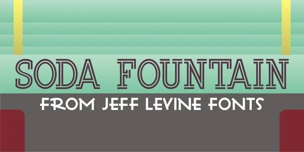 Soda Fountain Jnl [1 Font] | The Fonts Master