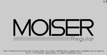 Moiser [1 Font] | The Fonts Master