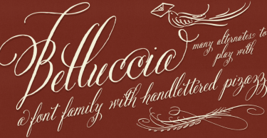 Belluccia [8 Fonts] | The Fonts Master
