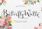 Butterfly Waltz Script [5 Fonts] | The Fonts Master