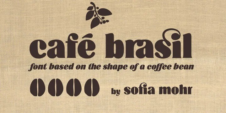 Cafe Brasil [2 Fonts] | The Fonts Master