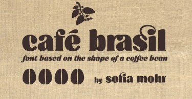Cafe Brasil [2 Fonts] | The Fonts Master