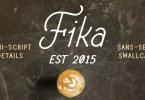 Fika [4 Fonts] | The Fonts Master
