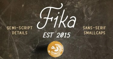 Fika [4 Fonts] | The Fonts Master