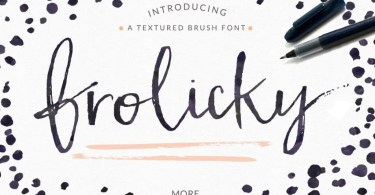 Frolicky - A Brushed Font + Extras [5 Fonts + Extras] | The Fonts Master