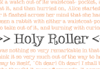 Holy Roller [1 Font] | The Fonts Master