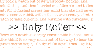 Holy Roller [1 Font] | The Fonts Master
