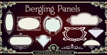 Lhf Bergling Panels [1 Font] | The Fonts Master