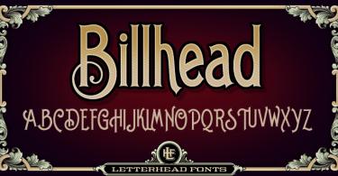 Lhf Billhead [3 Fonts] | The Fonts Master