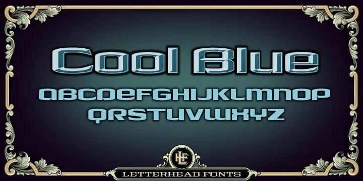 Lhf Cool Blue [2 Fonts]   The Fonts Master