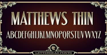 Lhf Matthews Thin [1 Font] | The Fonts Master