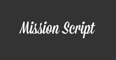 Mission Script [1 Font]