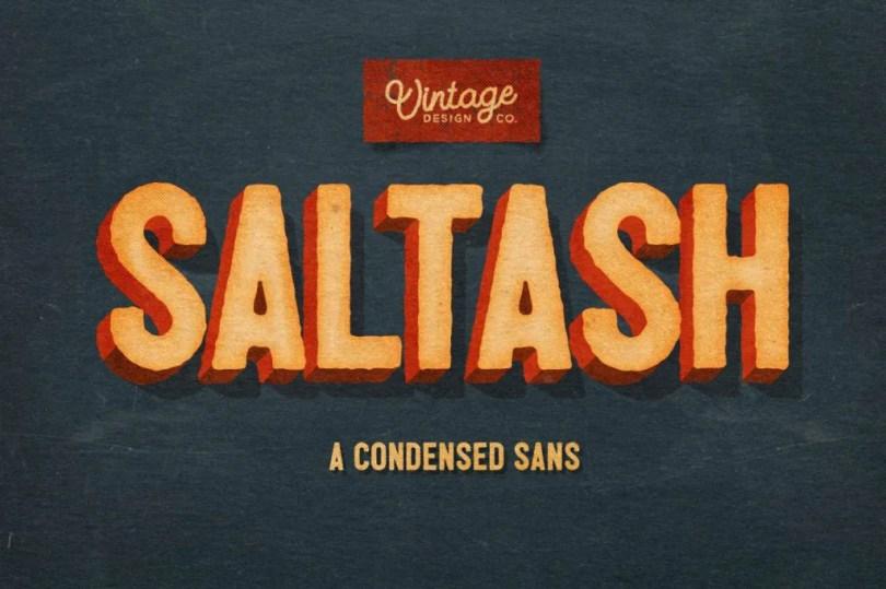 Saltash - A Condensed Sans [2 Fonts]   The Fonts Master