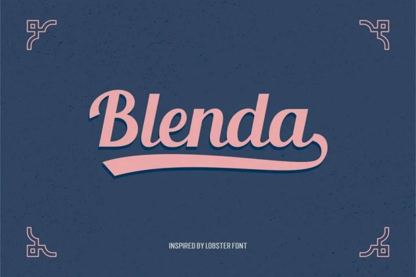 Blenda Script [1 Font] | The Fonts Master
