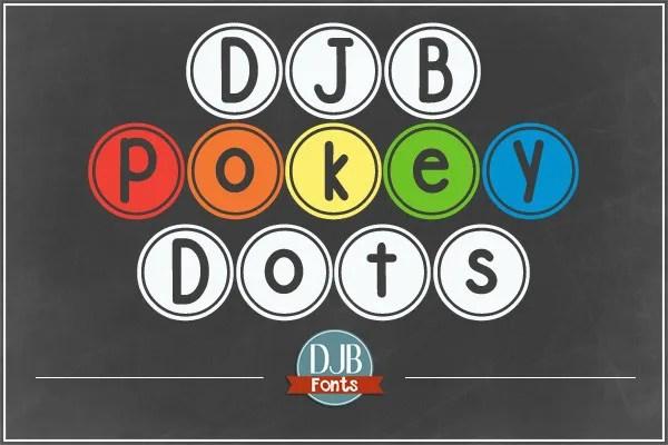 Djb Pokey Dots [1 Font] | The Fonts Master