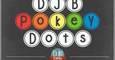 Djb Pokey Dots [1 Font]   The Fonts Master