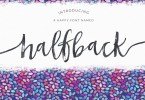 Halfback [4 Fonts] | The Fonts Master