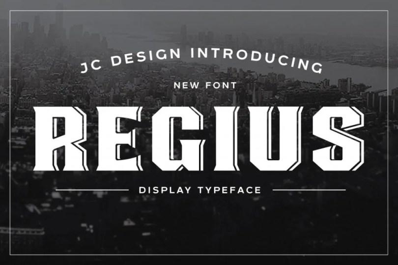 Regius Typeface [2 Fonts]   The Fonts Master