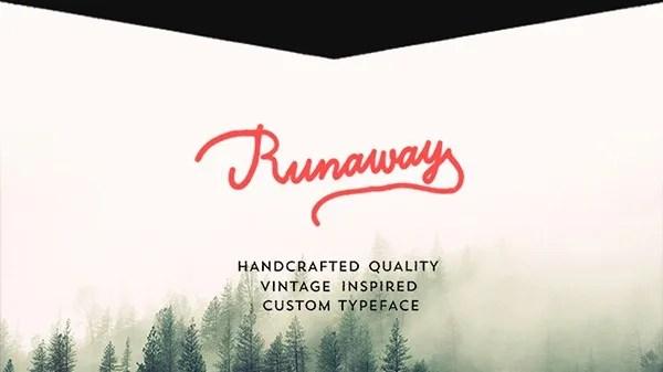 Runaway [1 Font] | The Fonts Master