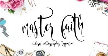 Master Faith [1 Font + Bonus] | The Fonts Master