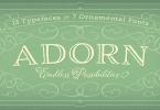 Adorn Super Family [20 Fonts] | The Fonts Master