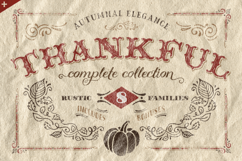 Thankful Complete [29 Fonts + Extras]   The Fonts Master