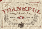 Thankful Complete [29 Fonts + Extras] | The Fonts Master