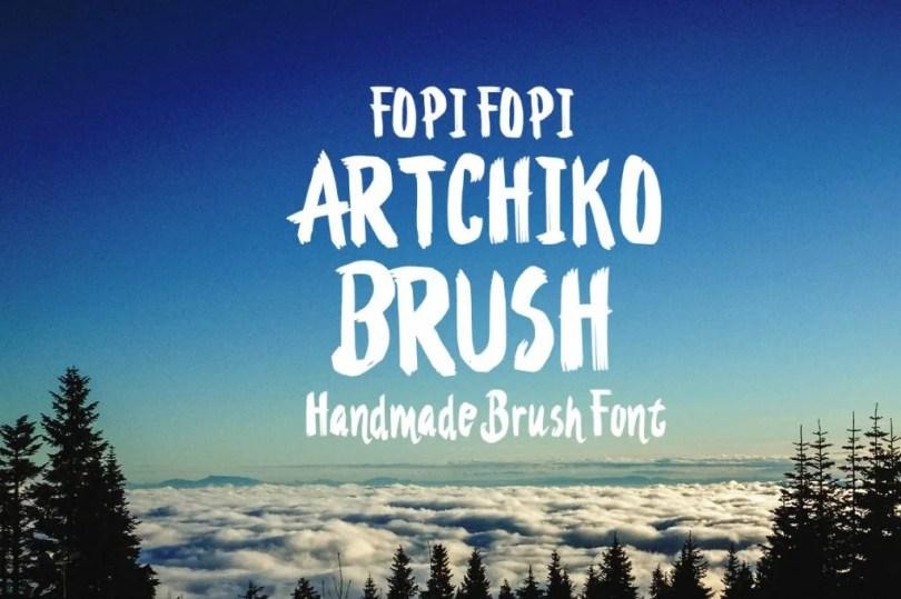 Artchiko Brush + Bonus [1 Font + Extras]   The Fonts Master
