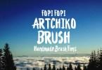 Artchiko Brush + Bonus [1 Font + Extras] | The Fonts Master