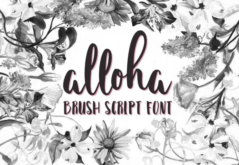 Alloha [1 Font]   The Fonts Master