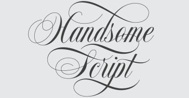 Handsome Script [1 Font]