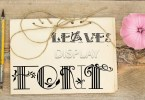 Leaves [1 Font] | The Fonts Master
