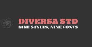 Diversa Std [9 Fonts] | The Fonts Master