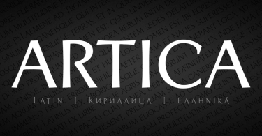 Artica Pro [5 Fonts] | The Fonts Master