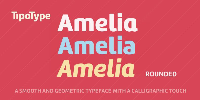 Amelia Rounded [16 Fonts]