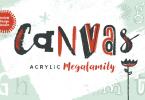 Canvas Acrylic Megafamily Super Family [39 Fonts] | The Fonts Master