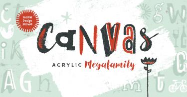 Canvas Acrylic Megafamily Super Family [39 Fonts]