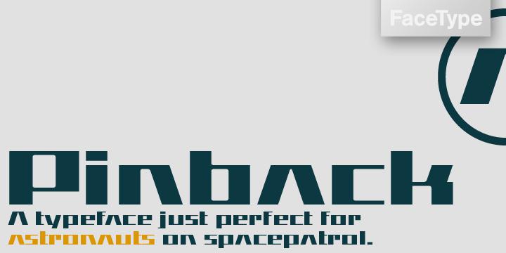 Pinback [1 Font]   The Fonts Master