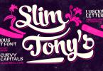 Slim Tony [1 Font] | The Fonts Master