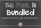 This Font Is Bundled [4 Fonts]