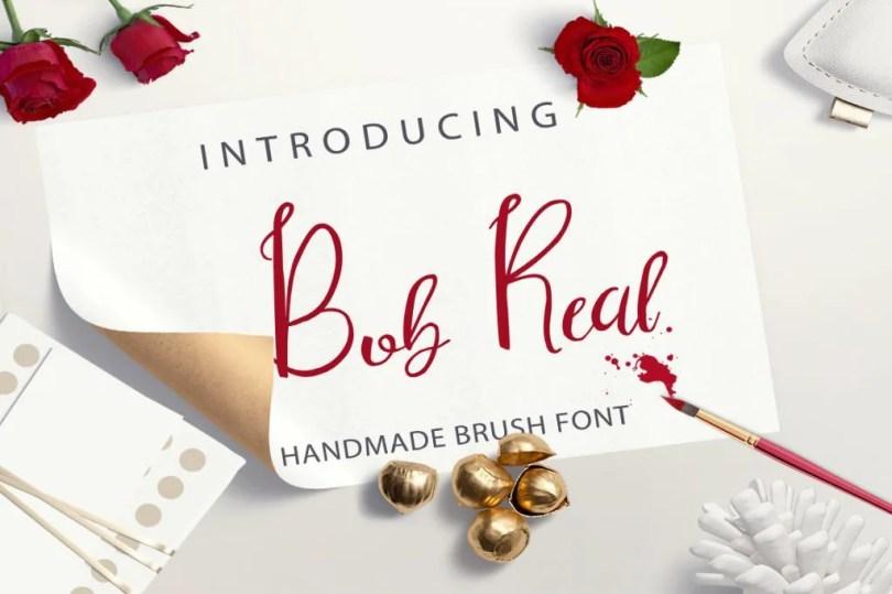 Bob Real [1 Font] | The Fonts Master