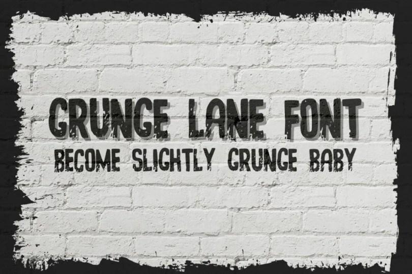 Grunge Lane [1 Font]   The Fonts Master