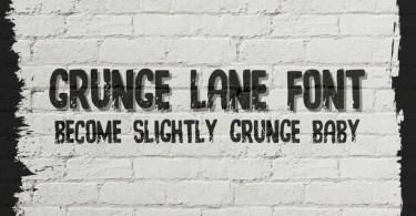 Grunge Lane [1 Font] | The Fonts Master