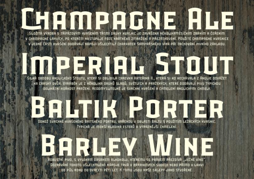 Lobec Brewery [2 Fonts] | The Fonts Master