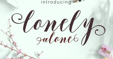 Lonely Alone [1 Font]   The Fonts Master