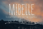 Mibelle Condensed [1 Font + Extras] | The Fonts Master