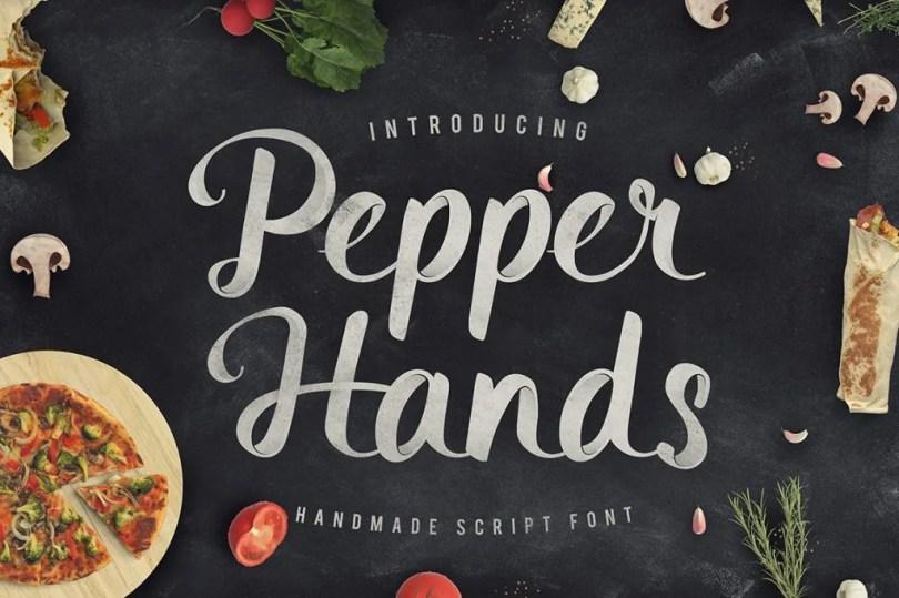 Pepper Hands Script [1 Font]   The Fonts Master