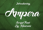 Ampera [1 Font] | The Fonts Master