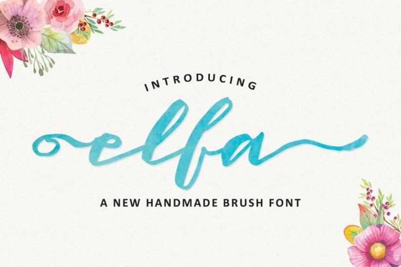 Elfa Brush [1 Font] | The Fonts Master