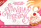 Vanilla Frosting [3 Fonts + Extras] | The Fonts Master